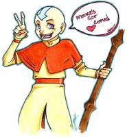 Aang - Copic Celebration by QuiltedPanda