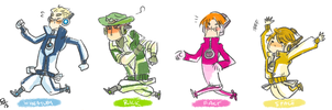 Okami Style: Personality Constructs (Androids) by bowlersandtophats