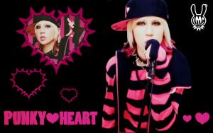 Punky Heart Wallpaper -maya- by x-BlueberryHeart-x