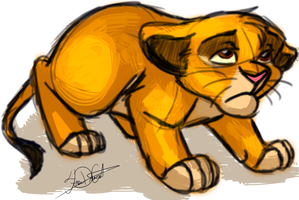 Exhausted Simba by catderson
