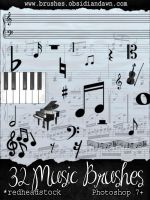 GIMP Music Brushes by Project-GimpBC