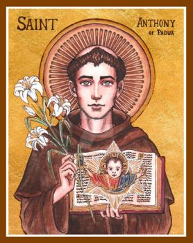 St. Anthony of Padua icon by Theophilia