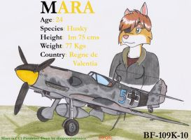 Mara and her Bf-109K-10 by DingoPatagonico