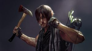 Daryl Dixon from The Walking Dead by DziKawa