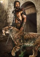 Crixus and his Daemon by LJ-Todd