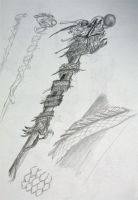 Conceptual Art Magic Staff by slwshin