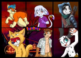 Vidafur's Halloween badges pt. 1 by pandapaco