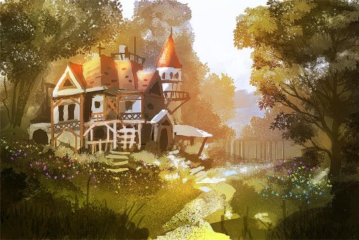 house in the woods by nigelhimself