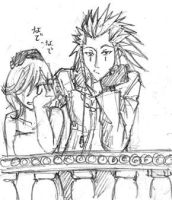 axel and namine by lackofsleep