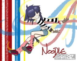 Noodle jumping off - Gorillaz by coastral