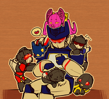 Daddy!Soundwave by shibara-draws-mecha
