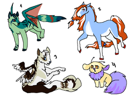 Diverse adoptables by MilkaAdoptions