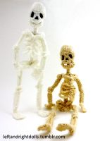 Skeletons by leftandrightdolls