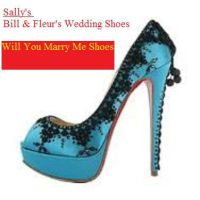 Sally's BillFleur'sWED Shoes. WillUMarry Me Shoes by HPandThe13GirlsPlus1