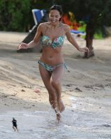 Myleene Klass beach run by lowerrider
