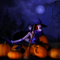 The Pumpkin Witch by SuliannH
