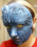 Mystique Makeup Test by leafeon-ex
