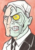 Two-Face Sketch Card by Tyrant-1