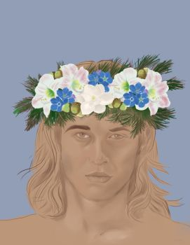 Marius de Romanus with a Flower Crown by Britannica-Graced
