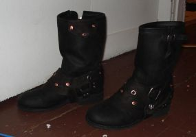 steampunk leather boot covers by missmonster