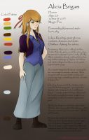 Alicia Brigam - Reference Sheet 1 by ElleranS