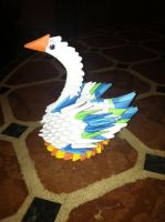 3D Origami Swan by Camelliawolf