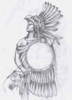 Aztec Warrior by theEGAS