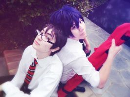 Yukio and Rin by Alonexinheaven