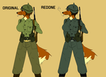 AU infantry redone by Alden-the-Fox