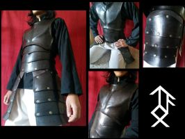 Black leather armor by El-Yohn