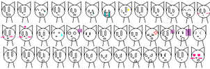 Cat Emoticons by Mrgw-productions