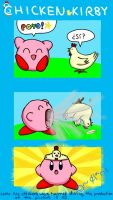 Chicken Kirby by clariecandy