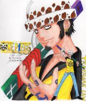Art by John Paul Raloto - Trafalgar Law by AbajiTheGreat