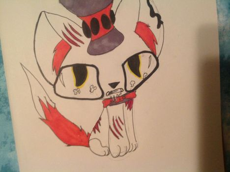 Creepy cat in the hat by puppystar59