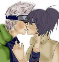 Anko and Kakashi by kunoichi87