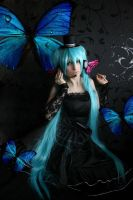 Miku Hatsune Butterfly time by SaCrIfIcEHuNtEr