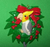 Cockatiel ornament by ladytech