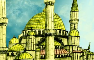 Mosque Sketch by vaimaster