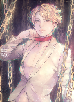 LEO_CHAINED UP. by MaewenMitzuki