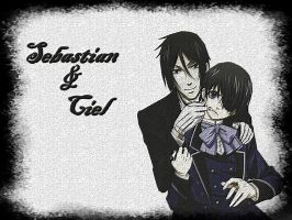 Ciel x Sebastian wp by Spuffyslayer
