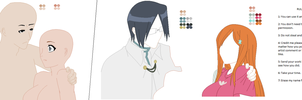 Uryu or Orihime x oc base by BloodyRoses1379