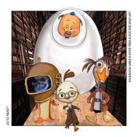 Doctor Who - Chicken Little/Silence in the Library by MikesStarArt