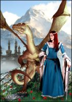 Lady and the Dragon by Ariaocs