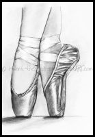 Ballet Shoes by i-want-the-red-one