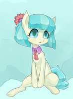 Delicate teal-maned pon by MantaTheMisukitty