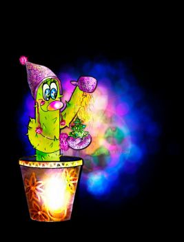 New Year's cactus by Mar1stafer