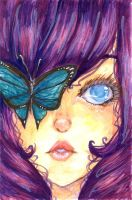 Blue-eyed Butterfly by koto-chii