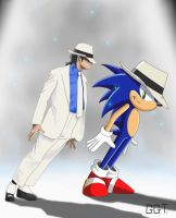 Michael jackson and Sonic the hedgehog by Xangosmith