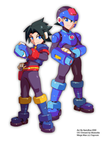 Commission: Ebran Mega Man Model M by SaitoKun-EXE