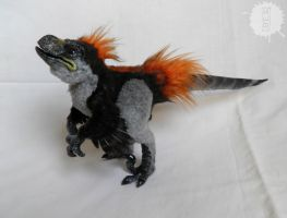 Animatronic Raptor Chick OOAK artdoll - PROTOTYPE by hikigane